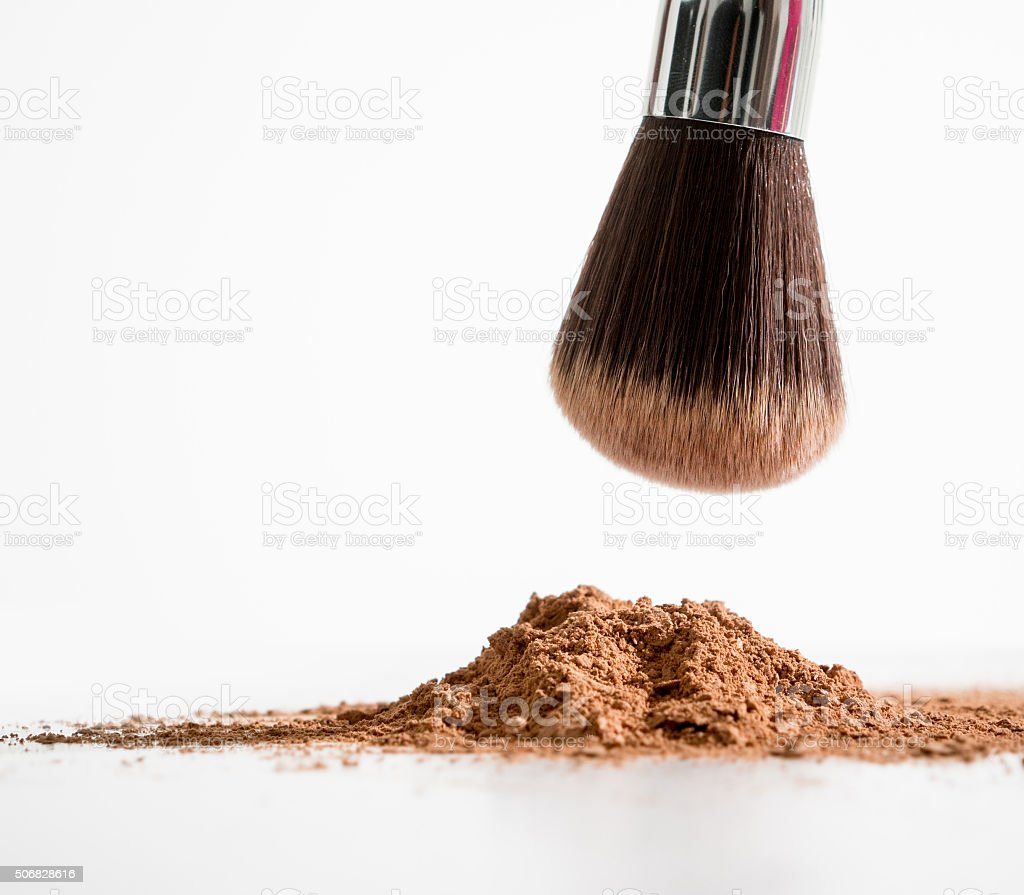 Powder brush stock photo