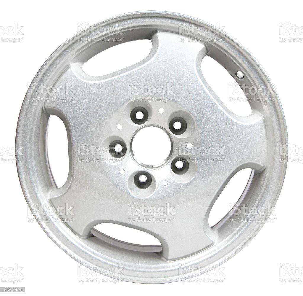 Powder coating of white wheel disk stock photo