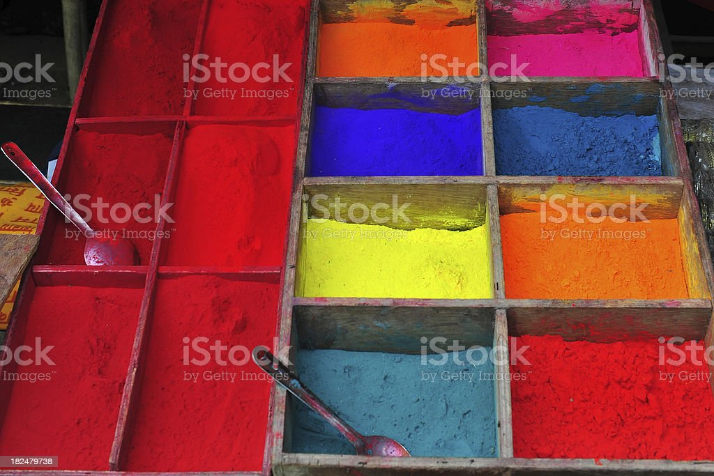 powder color stock photo