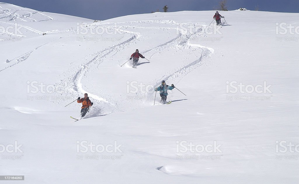 Powder Day royalty-free stock photo