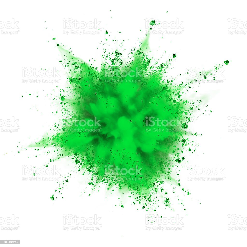 powder explosion stock photo