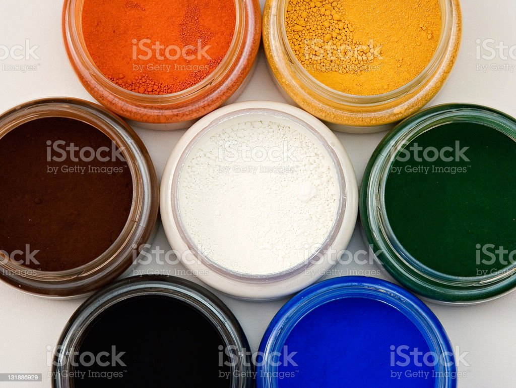 Powder pigments royalty-free stock photo