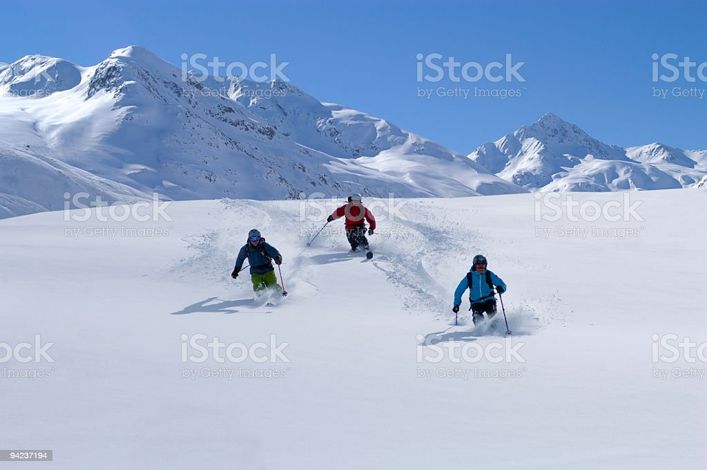Powder Ski day stock photo