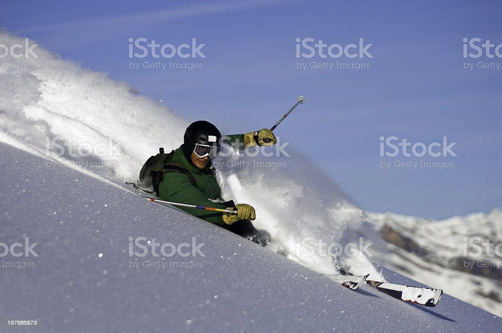 Powder Ski royalty-free stock photo