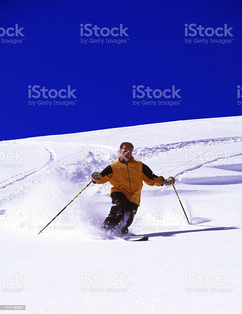Powder Ski royalty-free stock photo