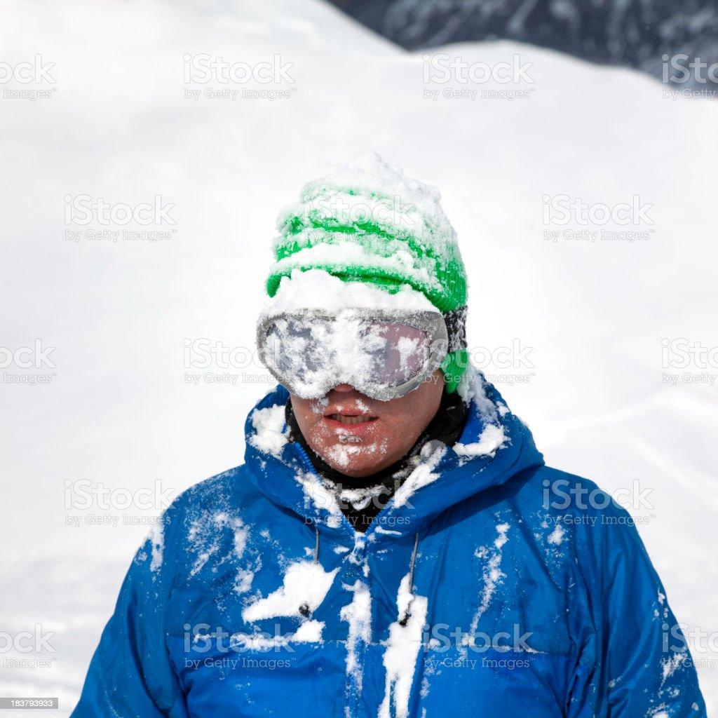 Powder snow portrait royalty-free stock photo