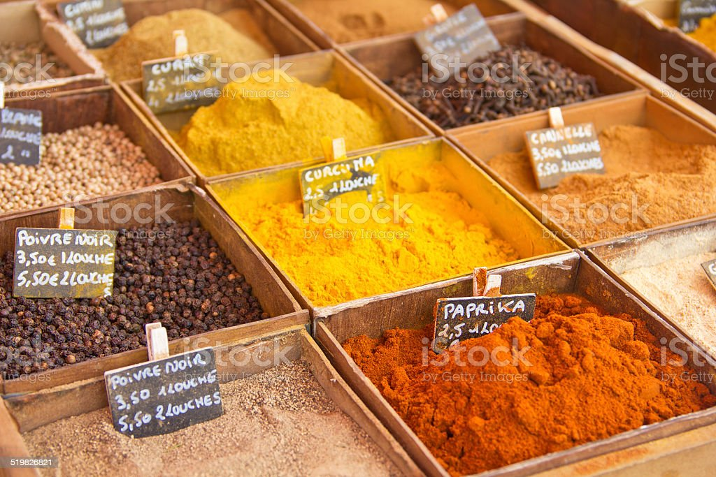 Powder spices stock photo