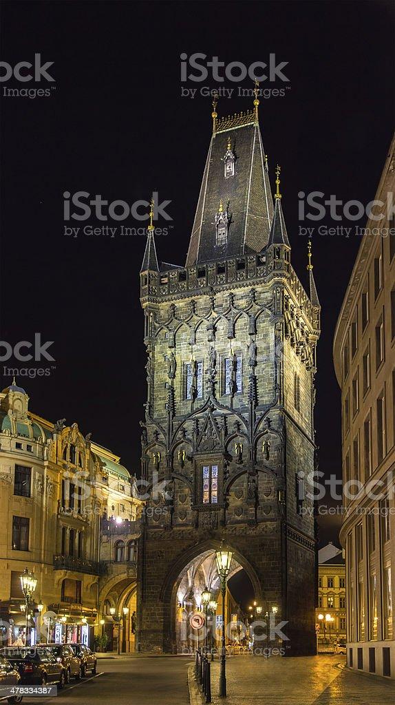 Powder Tower in Prague, Czech Republic royalty-free stock photo
