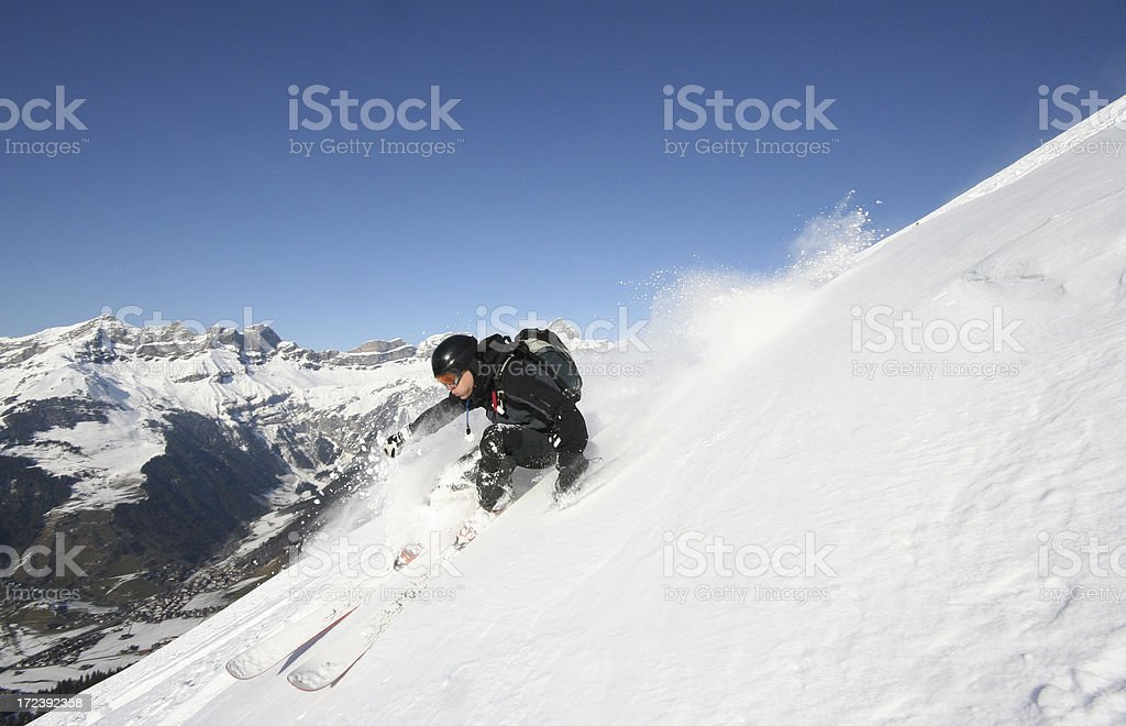 Powder turn royalty-free stock photo