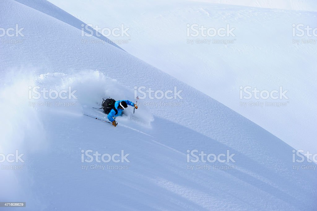 Powder Turn stock photo