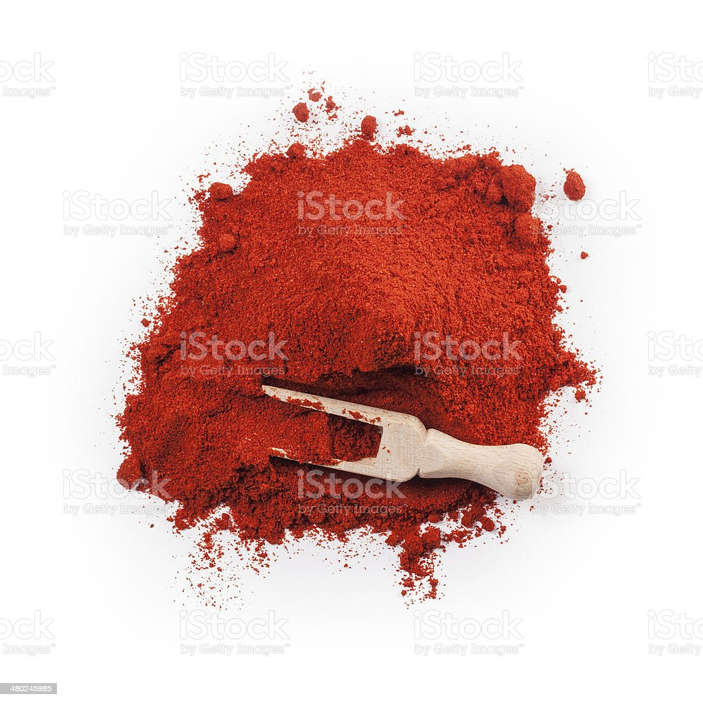 Powdered dried red pepper stock photo