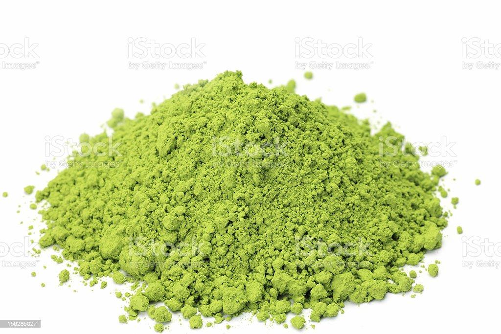 powdered green tea royalty-free stock photo