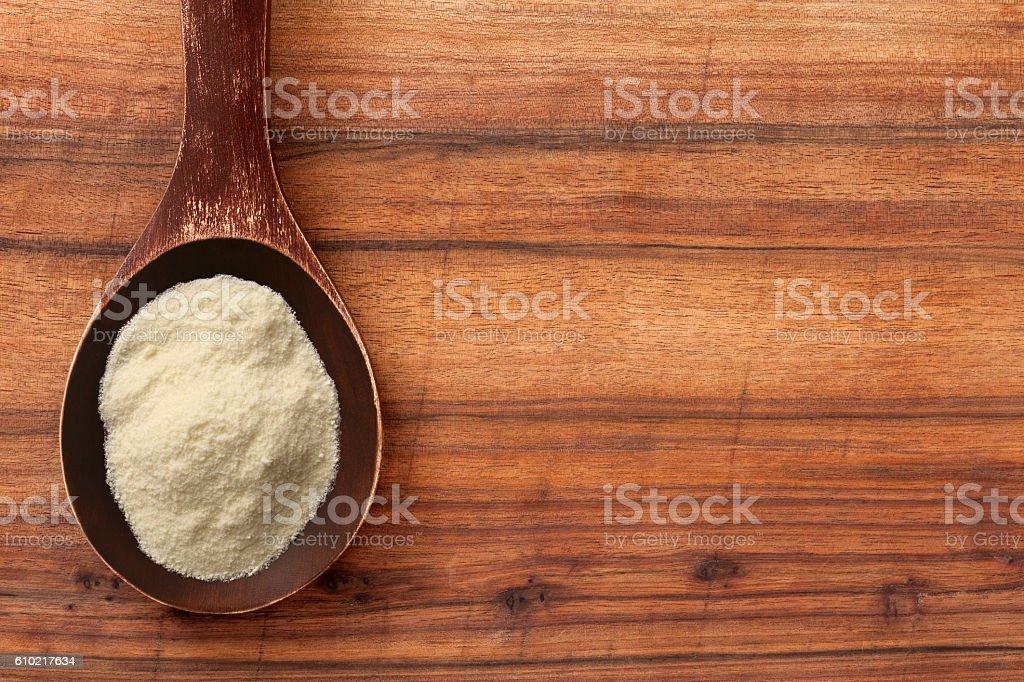 Powdered milk stock photo