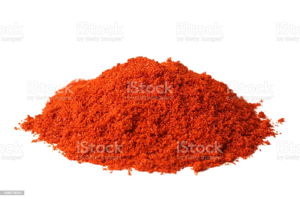 Powdered red pepper stock photo