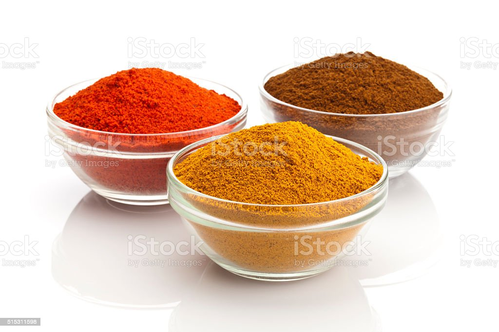 Powdered Spices stock photo