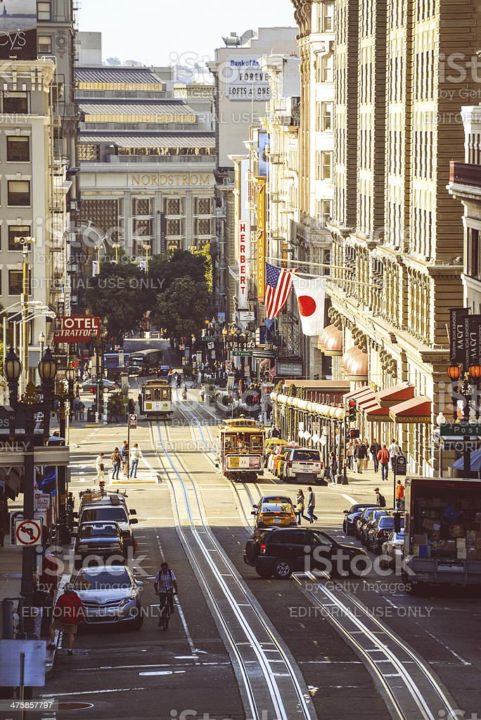 Powell Street, San Francisco, CA, USA royalty-free stock photo