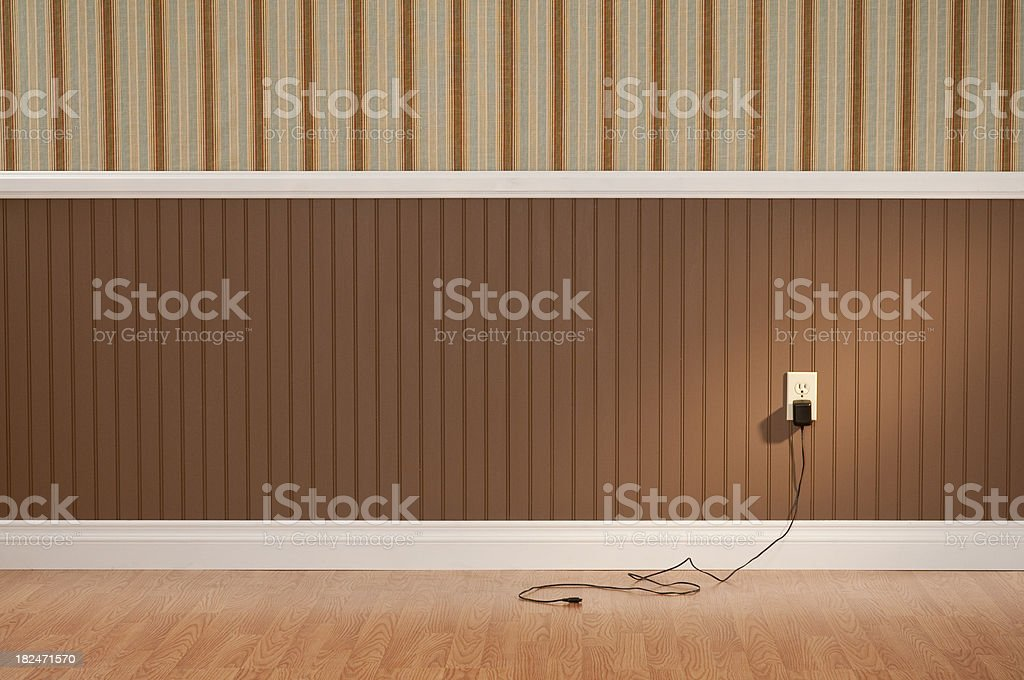 Power Adapter In Empty Room royalty-free stock photo