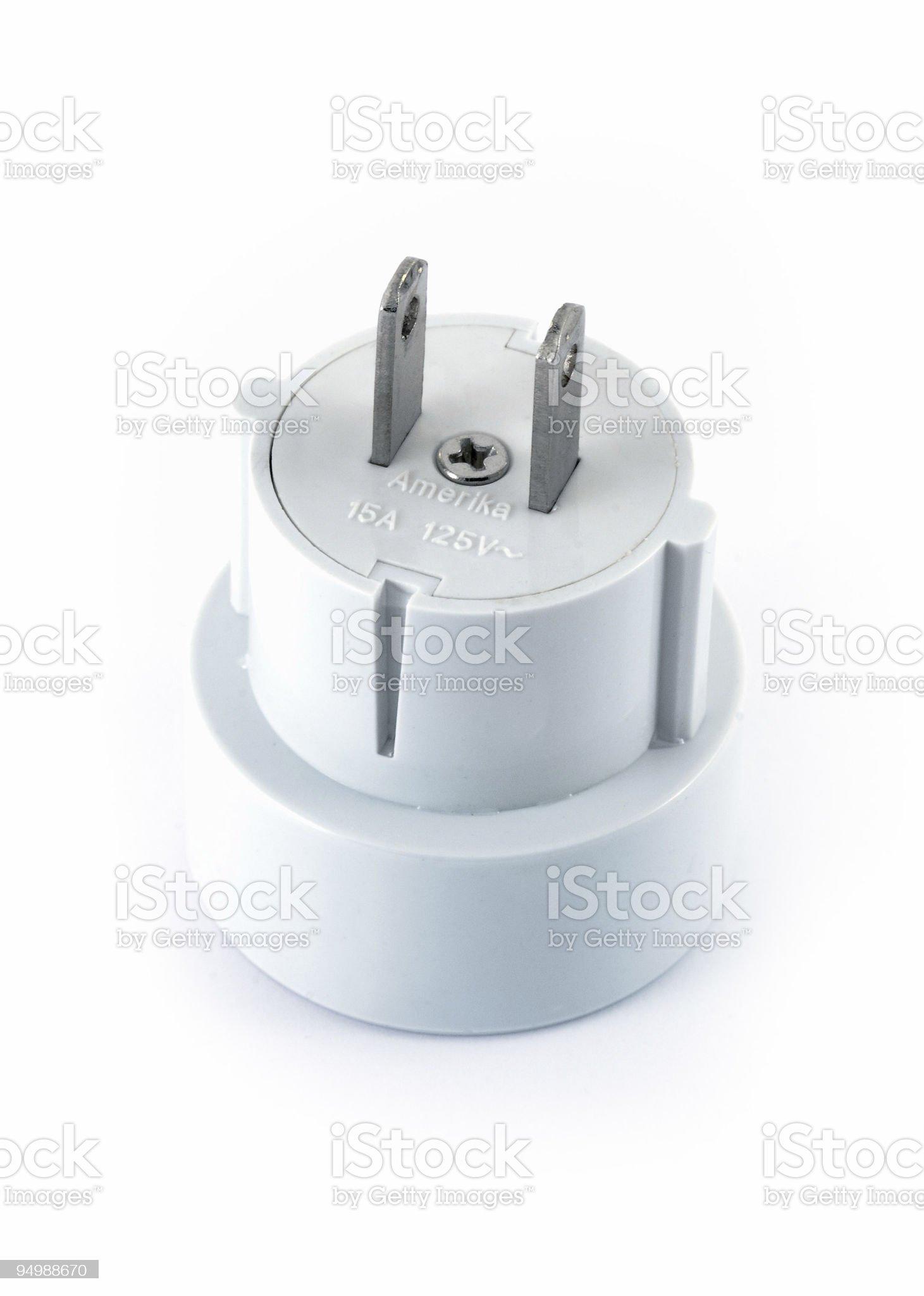 Power adapter royalty-free stock photo