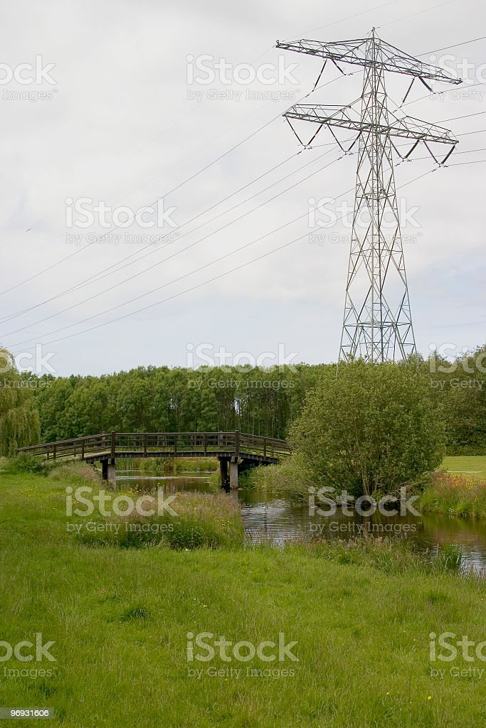 Power and bridge royalty-free stock photo
