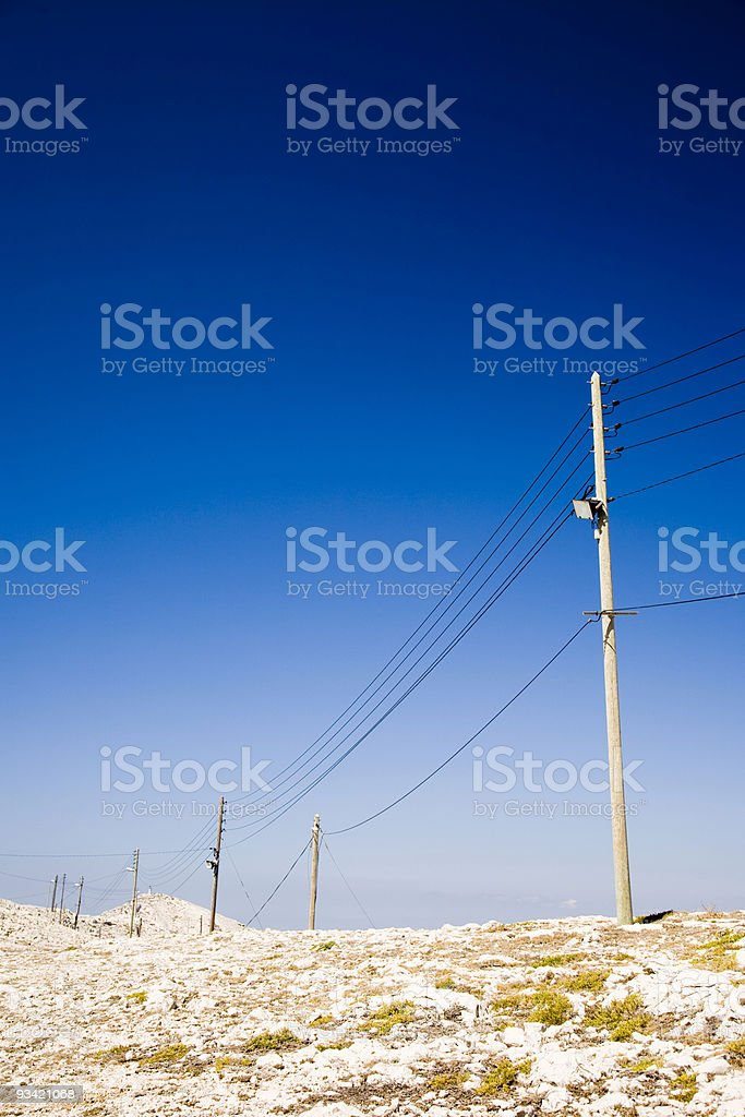 Power and Communication Poles royalty-free stock photo