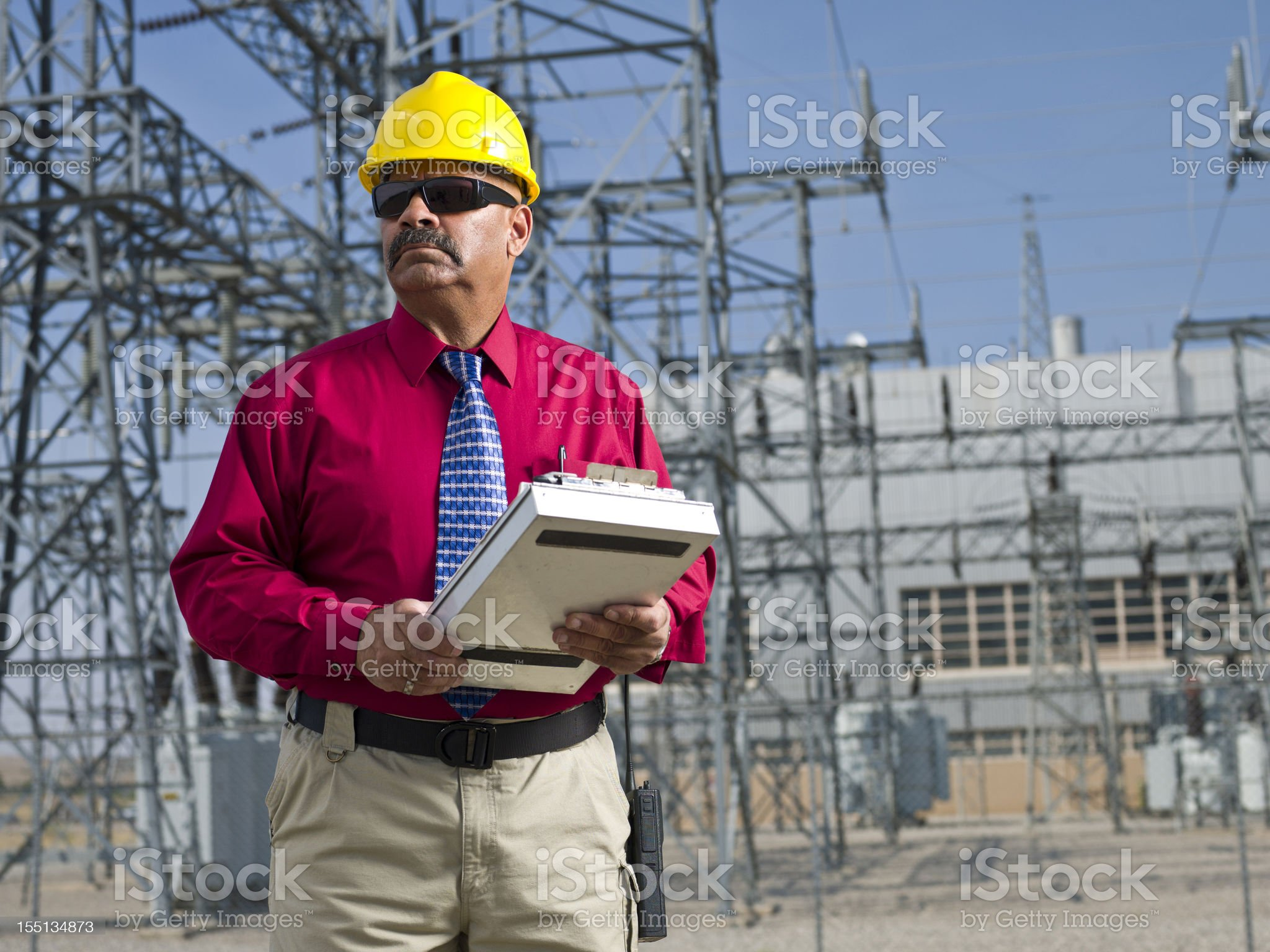 Power and electric industry foreman royalty-free stock photo