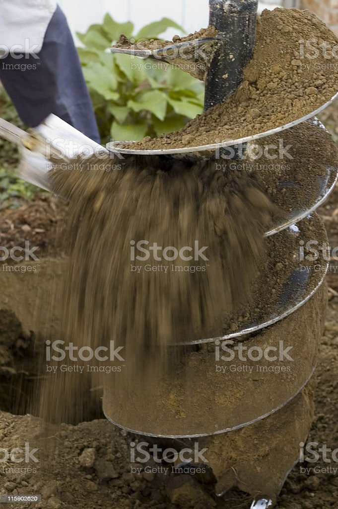 Power Auger Bit royalty-free stock photo