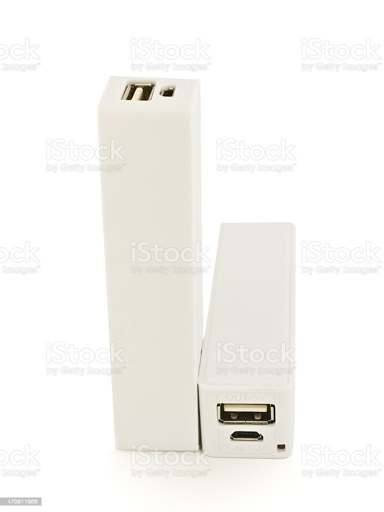 power banks isolated on white stock photo