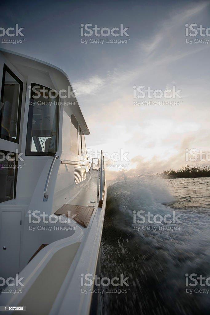 Power boat, close up stock photo