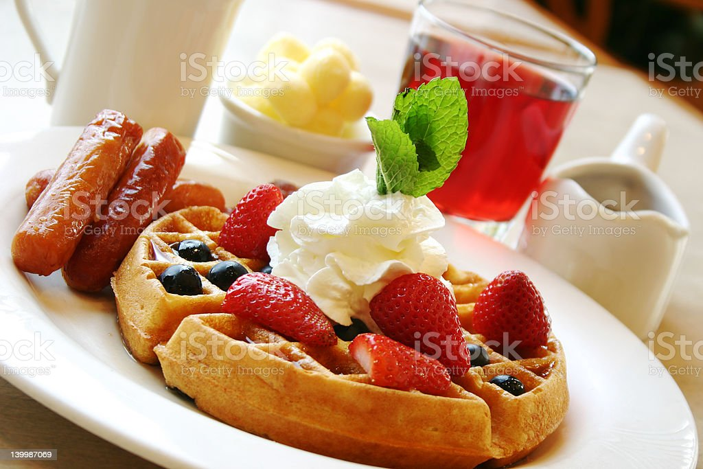 Power breakfast royalty-free stock photo