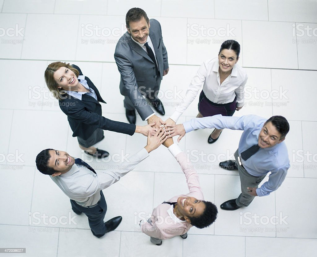 Power business team royalty-free stock photo