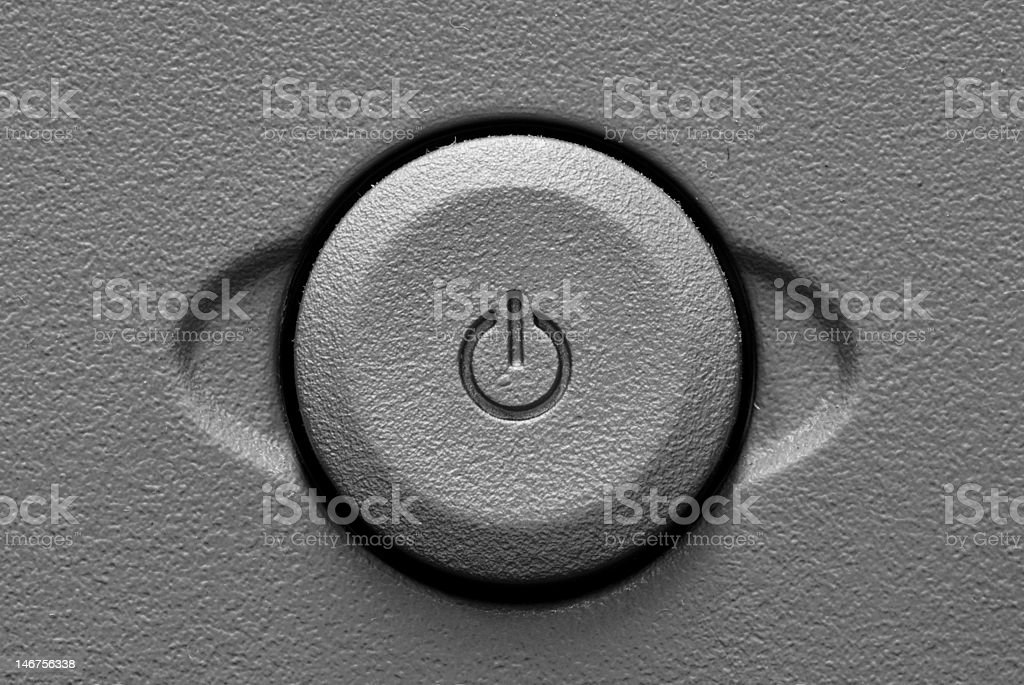 Power Button on Electronic Equipment stock photo