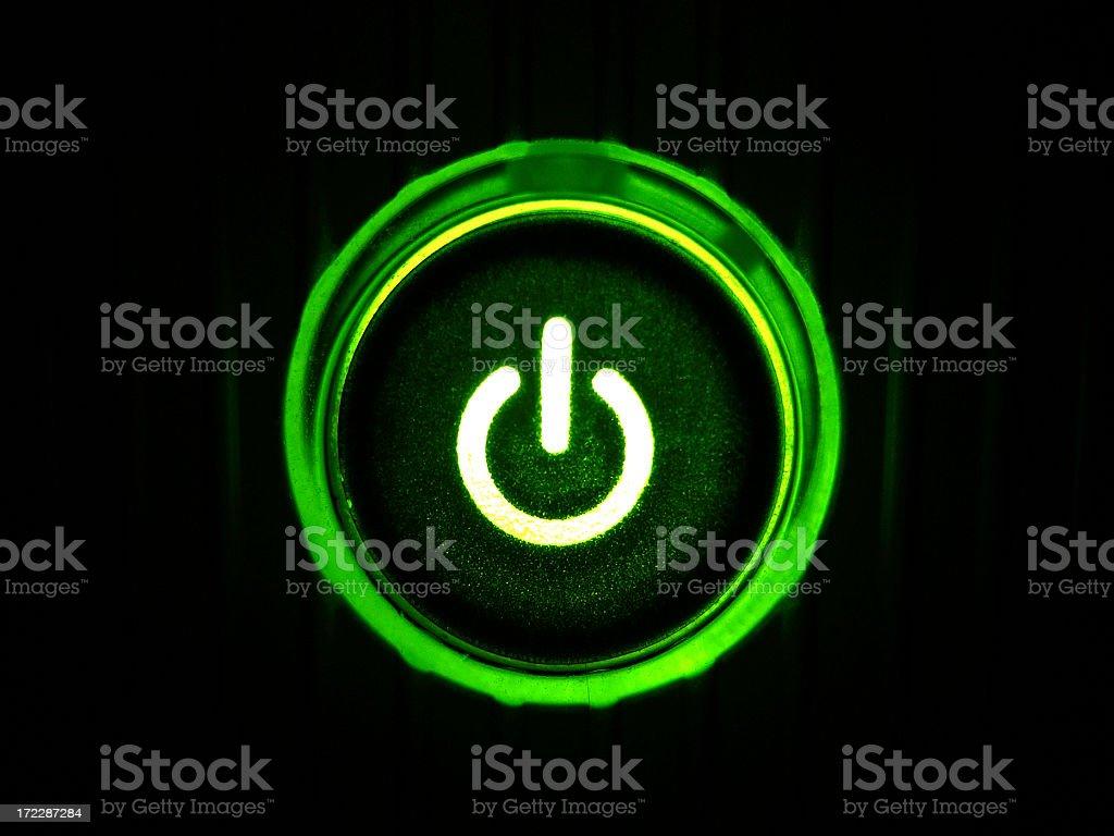 Power Button royalty-free stock photo
