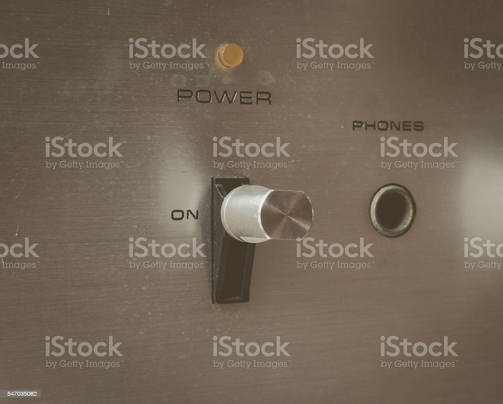 Power button switch stock photo