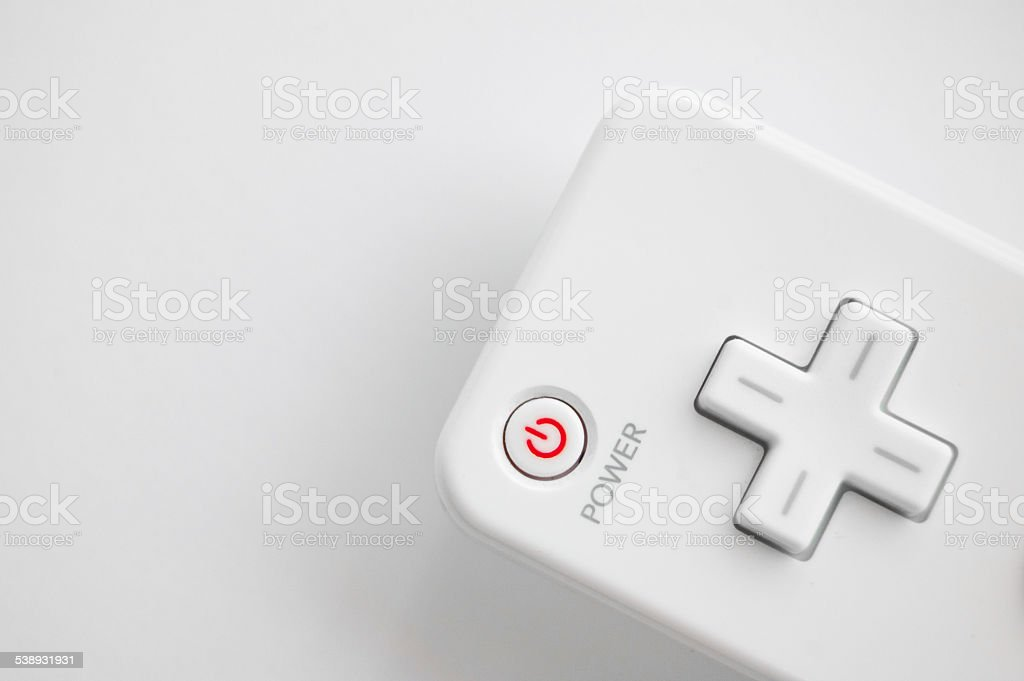 power buttons on the joystick stock photo