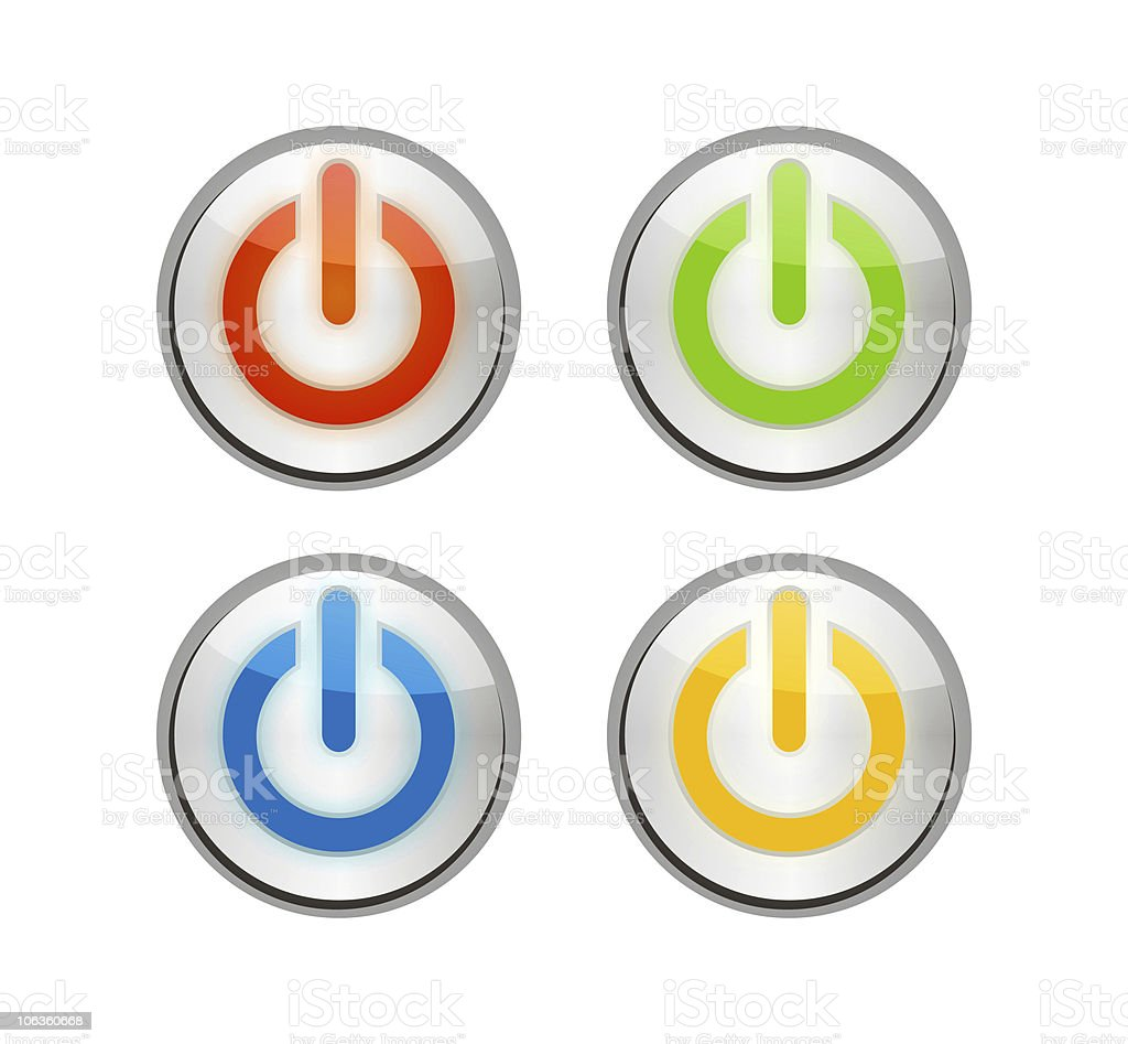 Power buttons royalty-free stock photo