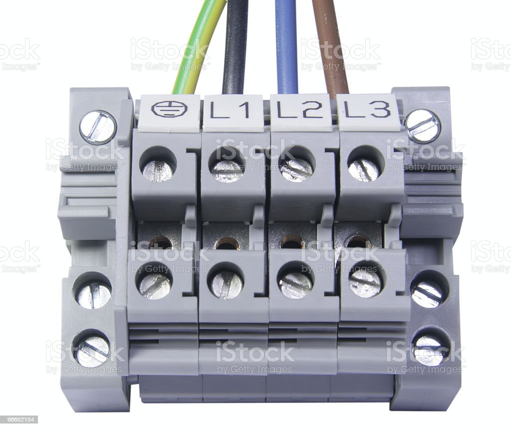 Power cable connector royalty-free stock photo