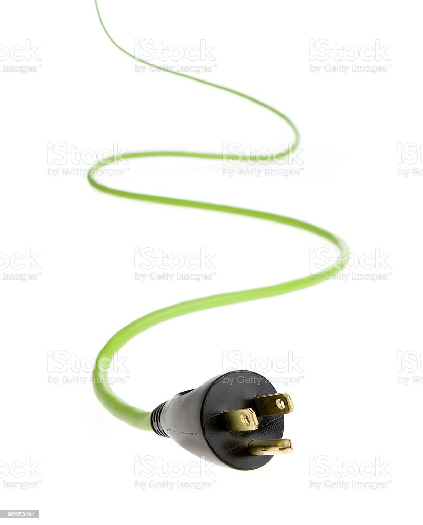Power cable isolated on a white background royalty-free stock photo