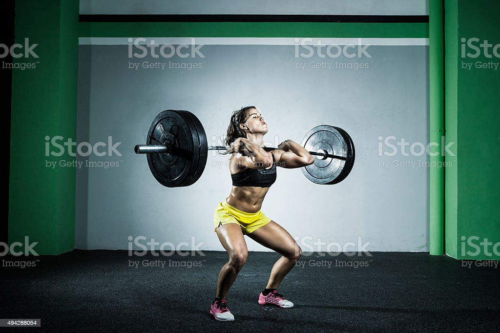 power clean stock photo