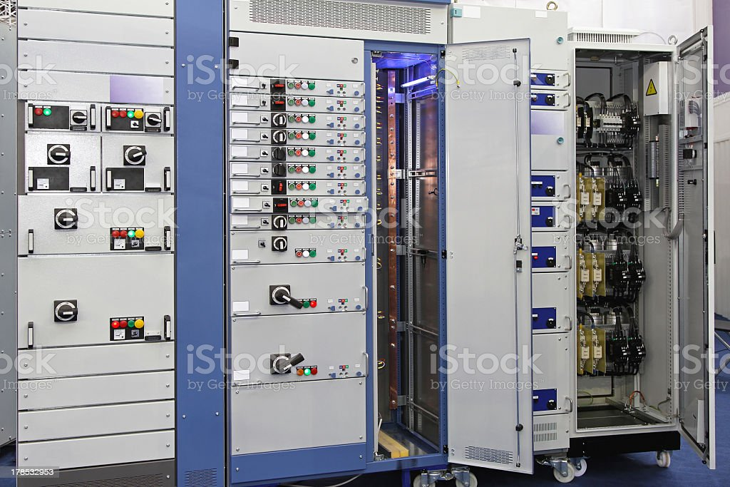 Power distribution board royalty-free stock photo