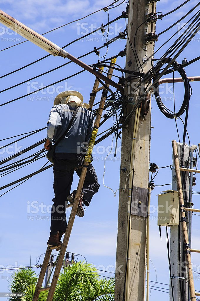 power electrician royalty-free stock photo