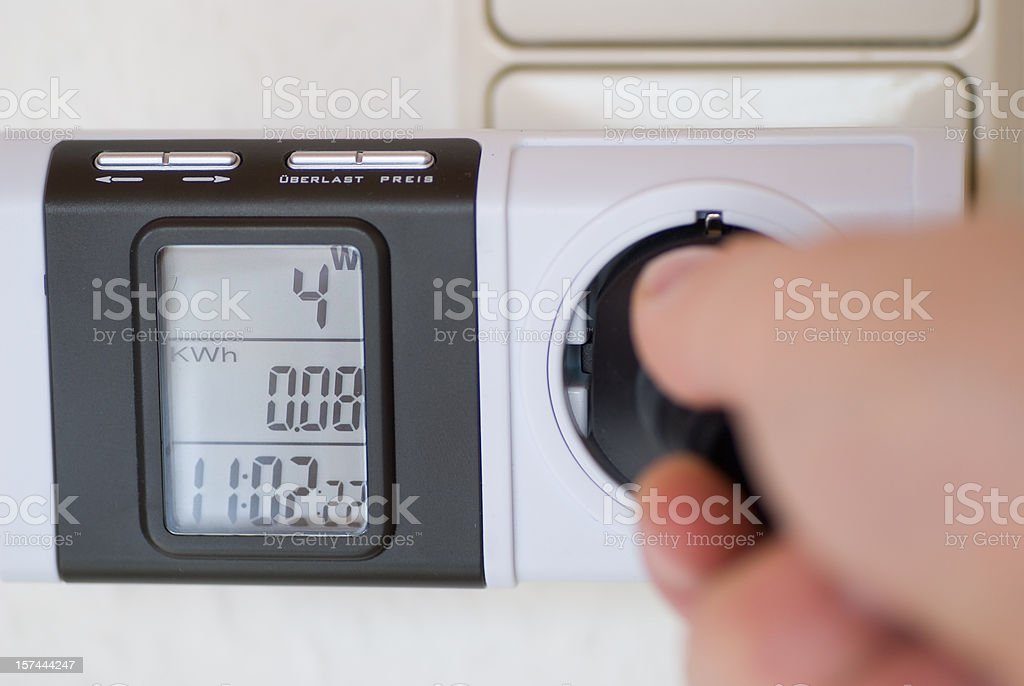 power electricity measurement stock photo