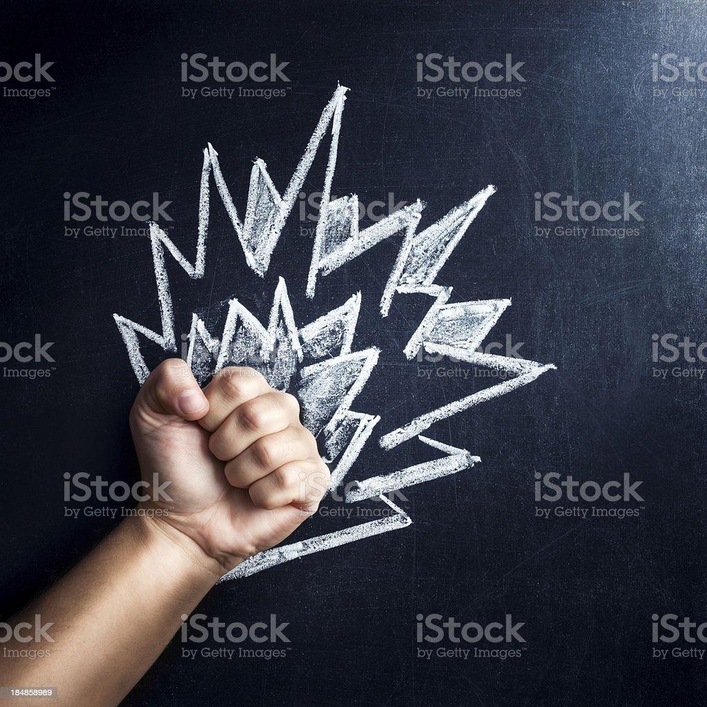 Power fist royalty-free stock photo