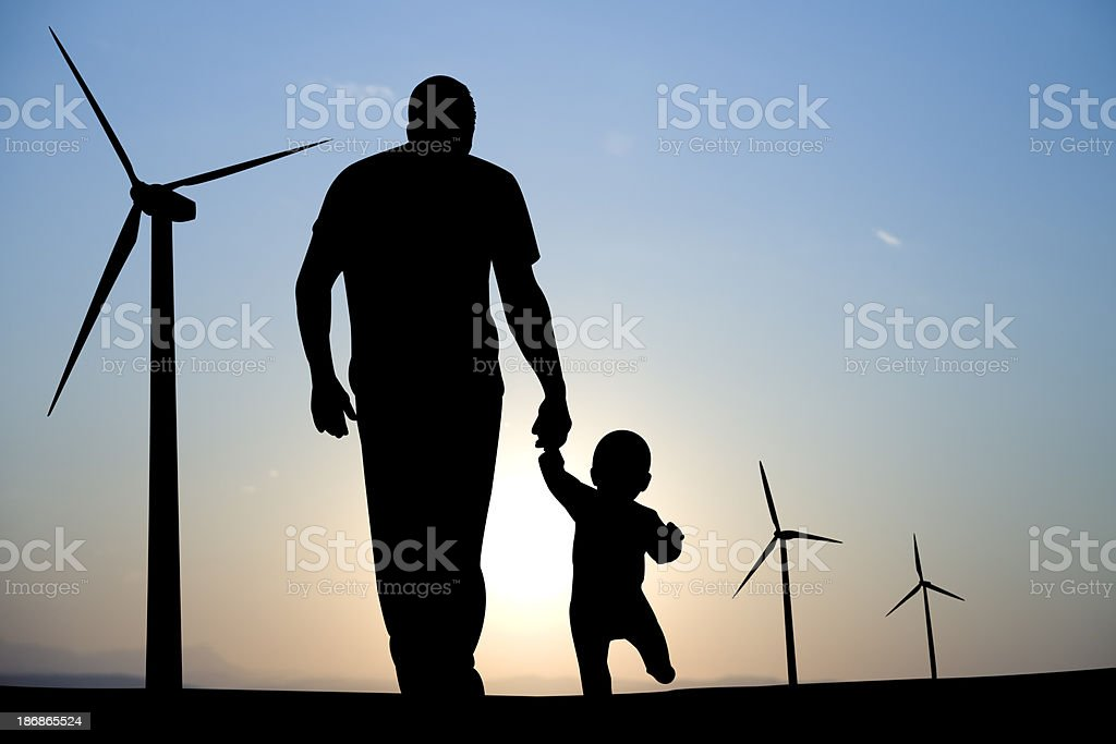 Power for Future Generations stock photo