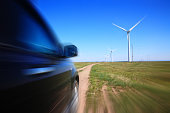 Power Generating Windmills and car