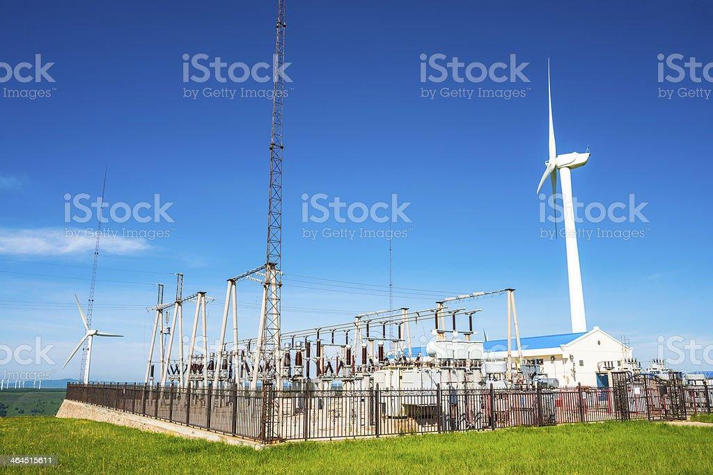 Power Generating Windmills royalty-free stock photo