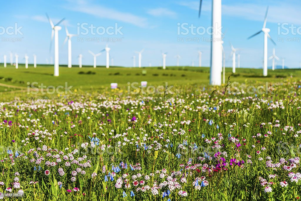 Power Generating Windmills royalty-free stock photo