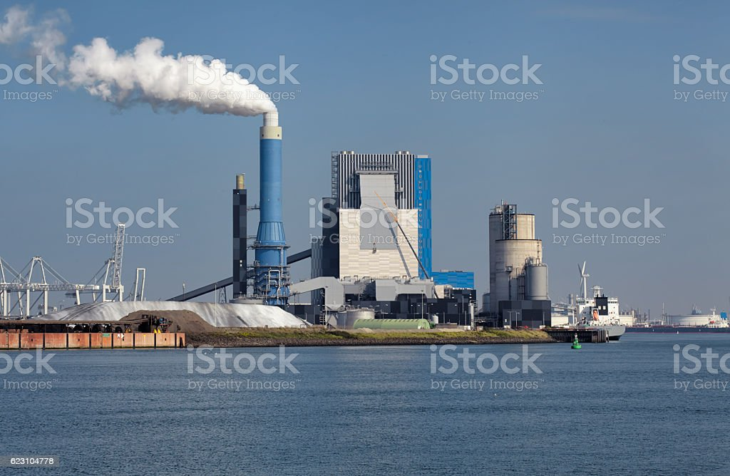 Power generation factory Generating Station stock photo