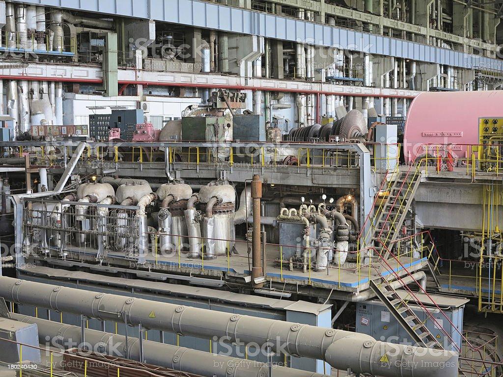 Power generator and steam turbine during repair royalty-free stock photo