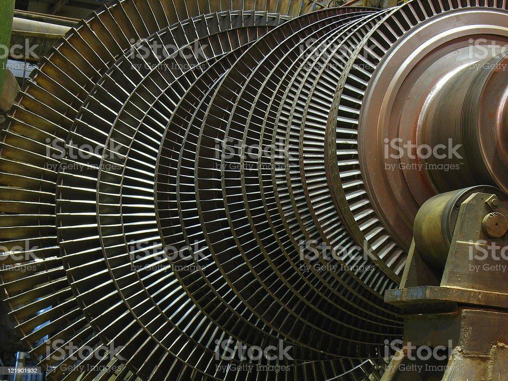 Turbinas poder gerador de vapor durante reparação foto de stock royalty-free