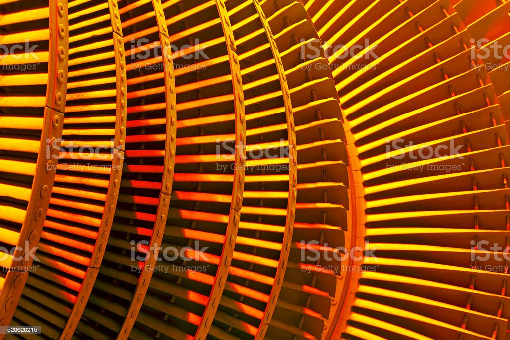 Power generator steam turbine during repair stock photo